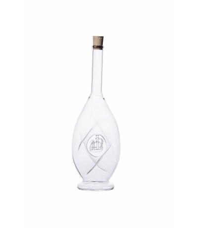Flasche gedreht mit Schiff